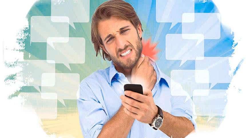 text neck cervicalgia smartphone
